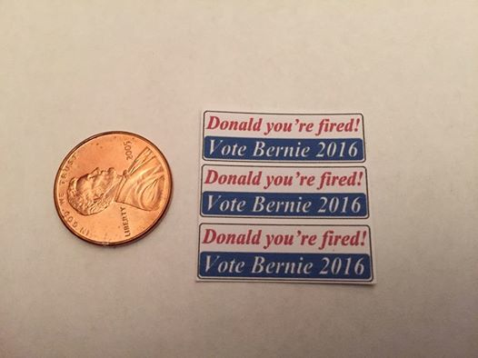 Donald your fired vote bernie 2016 bumper stickers